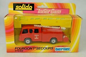 Solido France #350 Berliet 770-KE Fire Truck With Battery Operated Horn Mint/Box