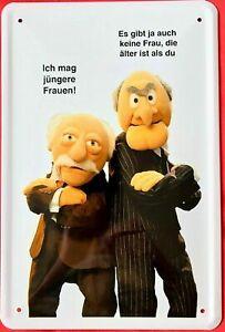 Blechschild 20x30 Muppets Waldorf & Statler Ich mag jüngere Frauen Spruch Bar