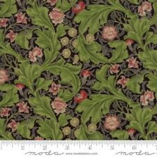 Moda Morris Holiday by V & A Museum 7313 13M Black Metallic COTTON