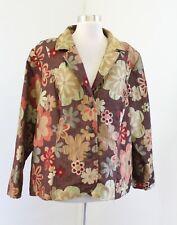 NWT Lane Bryant Brown Floral Print Blazer Jacket Size 22 / 24 Vintage Label