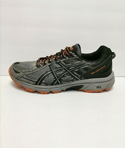 ASICS GEL-Venture 6 Men's Casual Running Trail Shoes Grey /Orange Size 10.5 M(D)
