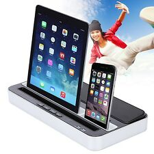 UK Speaker Charger Docking Dock Dual Station for iPhone iPad iPod Touch Samsung