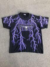 VTG 90s Brooks & Dunn Electric Rodeo All Over Print Lightning T Shirt Grunge.