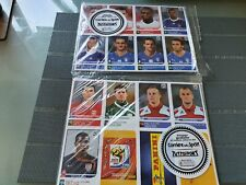 Panini 2010 World Cup stickers - additional 80 extra players update