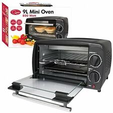 Quest Mini Electric Oven Cooker 9 Litre Table Top Countertop Oven Black NEW