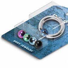 Pack Piercing anneau boules titane