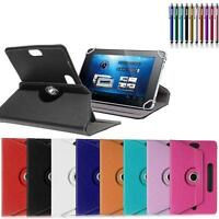 Rotating Leather Folio Flip Case Cover Stand Box For Huawei Tablet w/ Styus Pen