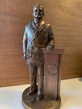 Harry Truman Rare Bronze statue. Tom Clark New In Box, Masonic Presi