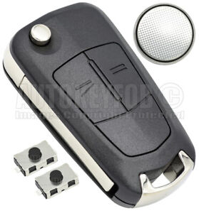 REMOTE KEY FOB CASE - SHELL FOR OPEL VAUXHALL ASTRA H - ZAFIRA REPAIR KIT OP06BB
