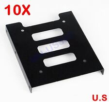 "2.5"" SSD HDD To 3.5"" Hard Drive Bay Metal Mounting Kit Adapter Converter Bracket"