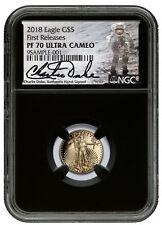 2018-W 1/10 oz Gold American Eagle $5 NGC PF70 UC FR Black Charlie Duke SKU53935