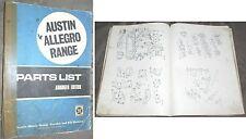 Austin Allegro Parts List Teilekatalog Ersatzteilkatalog orig. AKD5340 Edition 1