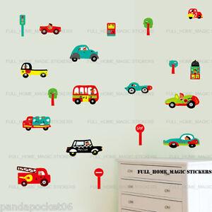 Cars Transport Kids Children Wall Stickers Art Decal Boys Bedroom Decor Nursery