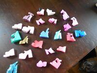 Barbie Doll Single Chunky Shoe  Lot Of  24 Single Shoes