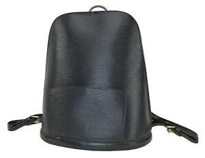 Authentic LOUIS VUITTON Gobelins Black Epi Leather Bag Backpack #39701