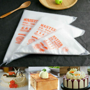 200X Plastic Disposable Piping Bags For Cake Decor Icing Frosting Piping Nozzles