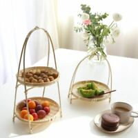 Woven Bamboo Storage Baskets Handmade Folding Fruits Dish For Kitchen Containers