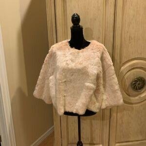 Zara Women Light Salmon Pink Faux Fur Textured Sweatshirt Coat Jacket Size S~NWT