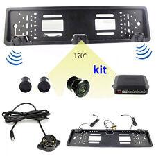 Portatarga con telecamera Retromarcia 170 ° sensori parcheggio Auto Notturna dvr
