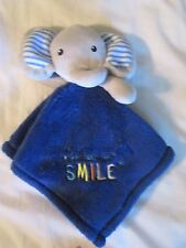 """Baby Gear """"You Make Me Smile"""" Blue Elephant Security Blanket/Lovey"""