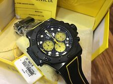 23106 Invicta Akula Men's 58mm Quartz Chronograph Black Silicone Strap Watch