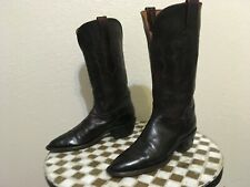 LUCCHESE BRUSH OFF BLACK CHERRY BROWN LEATHER BOOTS 7.5 B
