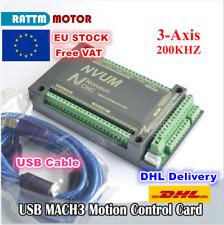 【UK】3 Axis USB Mach3 200KHZ NVUM CNC Controller Motion Board Control Card+Cable