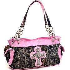 New Mossy Oak Women Handbag Camouflage Faux Leather Shoulder Bag Large Purse