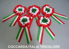 COCCARDA ITALIA TRICOLORE PICCOLA ARTIGIANALE TOP QUALITY 1 Pz. gadgets elezioni