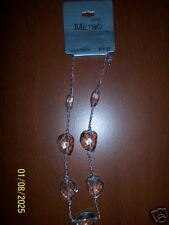 NWT Metro Glass Beads Necklace NEW Fashion Jewelry Clear Beads Women Choker