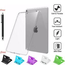 Ultra Clear Transparent Silicon Case TPU Rubber Cover with Holder For  iPad Air