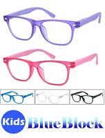 Kids Blue Light Blocking Glasses Computer Gaming Retro Eyewear Vision Care