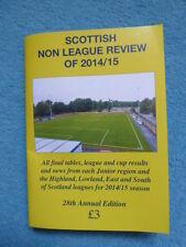Scottish Non League Review of 2014/15, football, scottish junior, juniors