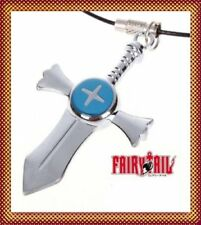 FAIRY TAIL NATSU BENNIS NECKLACE PENDENTIF COLLIER CROIX GRIS FULLBUSTER COSPLAY