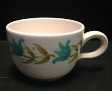 Vintage Franciscan Tulip Time Blue & Green Flower Coffee Mug Tea Cup Mid Century
