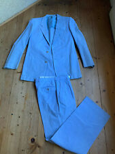 Corneliani Einreihiger Anzug Chinohose Jacket Baumwolle hellblau 94