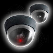 2 x Wireless SICHERHEITS KAMERA Dome First Alarm Kuppel Dummy Video Überwachung