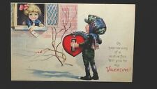 Valentine Post Card Oh Hear Me Sing Of A Motive Fine Will You Be My Series 1404B