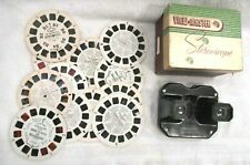 VNTG 1956 View-Master Org.box.Sawyer's Mod.#C Stereo+12 reels TVshows-movies