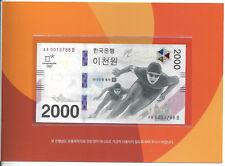 SÜDKOREA SOUTH KOREA 2000 2.000 WON 2018 OLYMPIC COMMEMORATIVE + FOLDER UNC