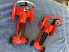 Cox Shrikes, 2 Super Nice Vintage Cox tether cars, one with Black Widow Engine