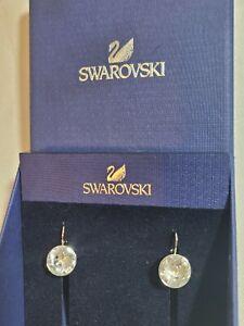 💖 SWAROVSKI SILVER CRYSTAL DROP EARRINGS BELLA 5085608 - NEW IN BOX
