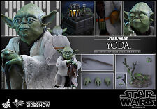 STAR WARS YODA HOT TOYS MMS369 SIXTH SCALE FIGURE SIDESHOW SHIPS FREE