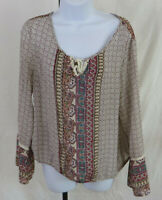 Womens American Rag Boho Long Bell Sleeves Shirt Top XL