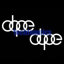 "2Pcs ""Dope"" Euro Drift Race Cool JDM Car Window Laptop Vinyl Decal Sticker White"