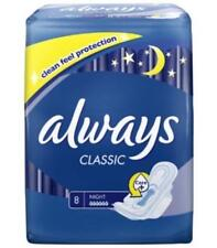 ** 4 X ALWAYS CLASSIC 8 NIGHT TOWELS 32 PADS WITH WINGS NEW *
