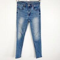 American Eagle Women's Super Stretch Hi-Rise Jegging Denim Skinny Jeans Size 0