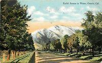 DB Postcard CA D579 Cancel 1910 Euclid Avenue in Winter Ontario Cal Street View