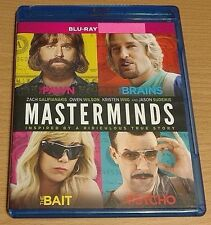 Masterminds Bluray disc/case/cover only-no digital 2017 wilson Galifianakis PV
