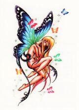 Temporary Tattoo, Einmal Tattoo  Bullseye BUFFG-03, Schmetterlingsfee